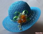 Мобильный LiveInternet Летние шляпки связанные крючком с цветами - много схем,идей и мк   Живая_река - Дневник Живая_река  