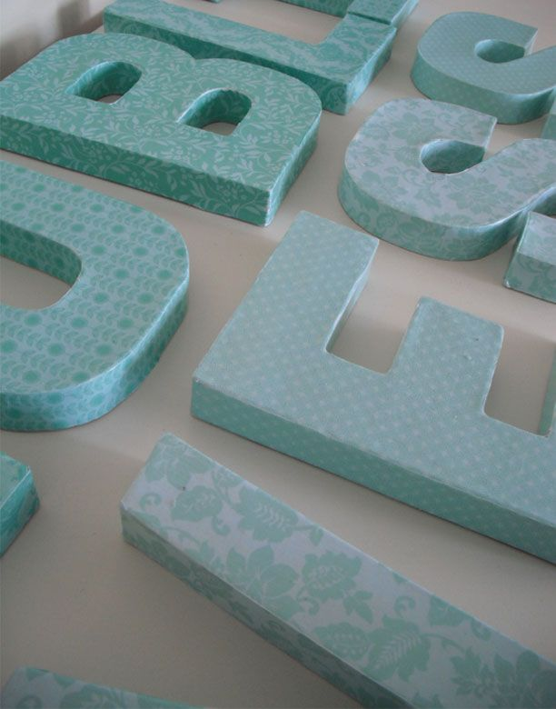 Decoupage Letters - http://www.estroo.it/2013/04/08/decoupage-letters/