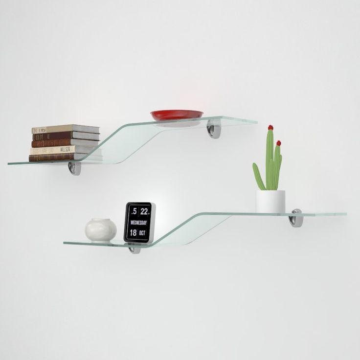 Mensole in vetro sagomato Onda Veca vende online mensole in vetro sagomato e colorato  Mensole Onda in vetro curvato e temperato di ottima fattura, disponibile nelle colorazioni trasparente, bianco e nero. Insieme alla mensola verrà fornito un kit composto da 2 supporti per vetro, da scegliere tra quelli proposti