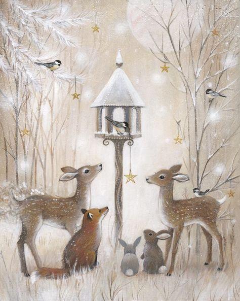 Милые новогодние иллюстрации : фото #5