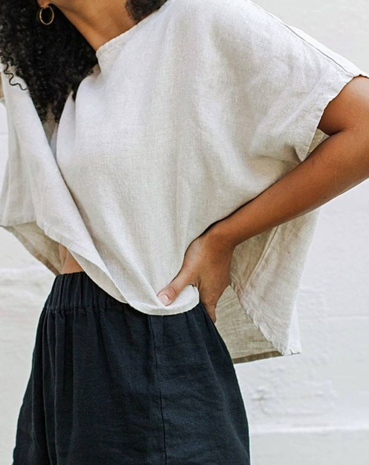 The Linn Tee in Midweight Linen + The Tilda Pant in Midweight Linen