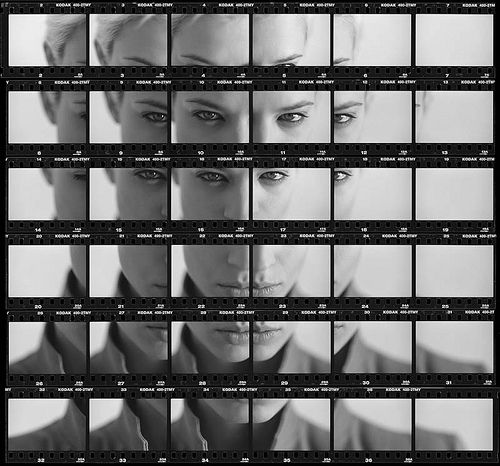 Analog photo project:Make a Single Photo from an Entire Roll of Film …Like Zamario's amazing contact sheet portrait. Also, check out Martin Wilson's awesome contact sheet composites.