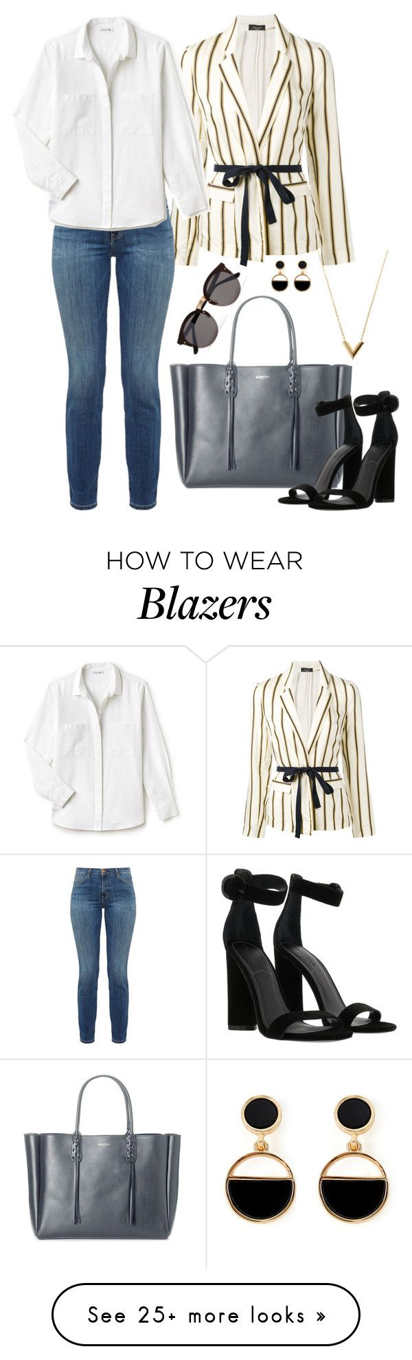 """Untitled #1751"" by aginica on Polyvore featuring Roberto Collina, Current/Elliott, Lacoste, Lanvin, Kendall + Kylie, Illesteva, Warehouse and Louis Vuitton"