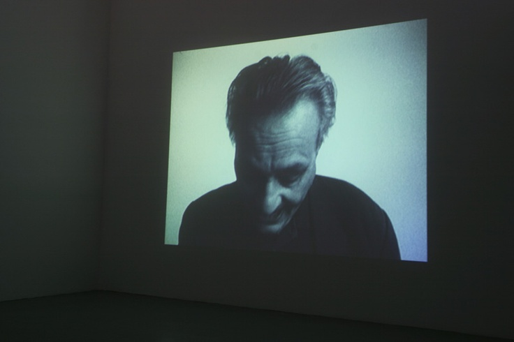Mike Parr. '100 Breaths' 2003 (installation). single channel digital video 7.23 min