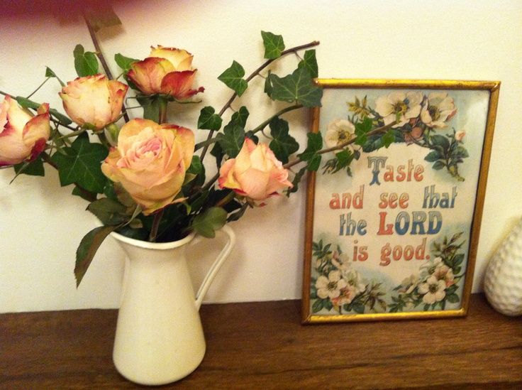 Old Sunday School pictures and vintage roses...