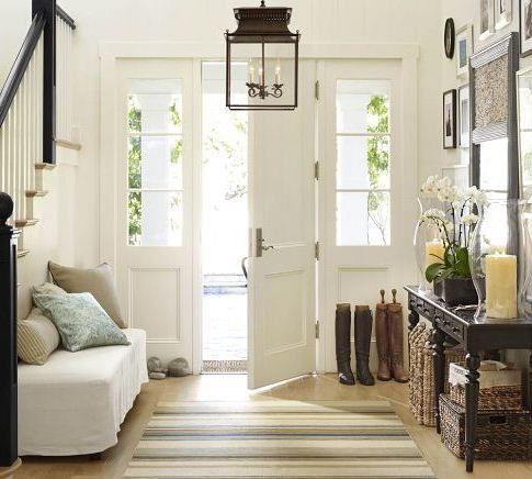 64 best home entryway decor images on pinterest home for Farmhouse mudroom ideas