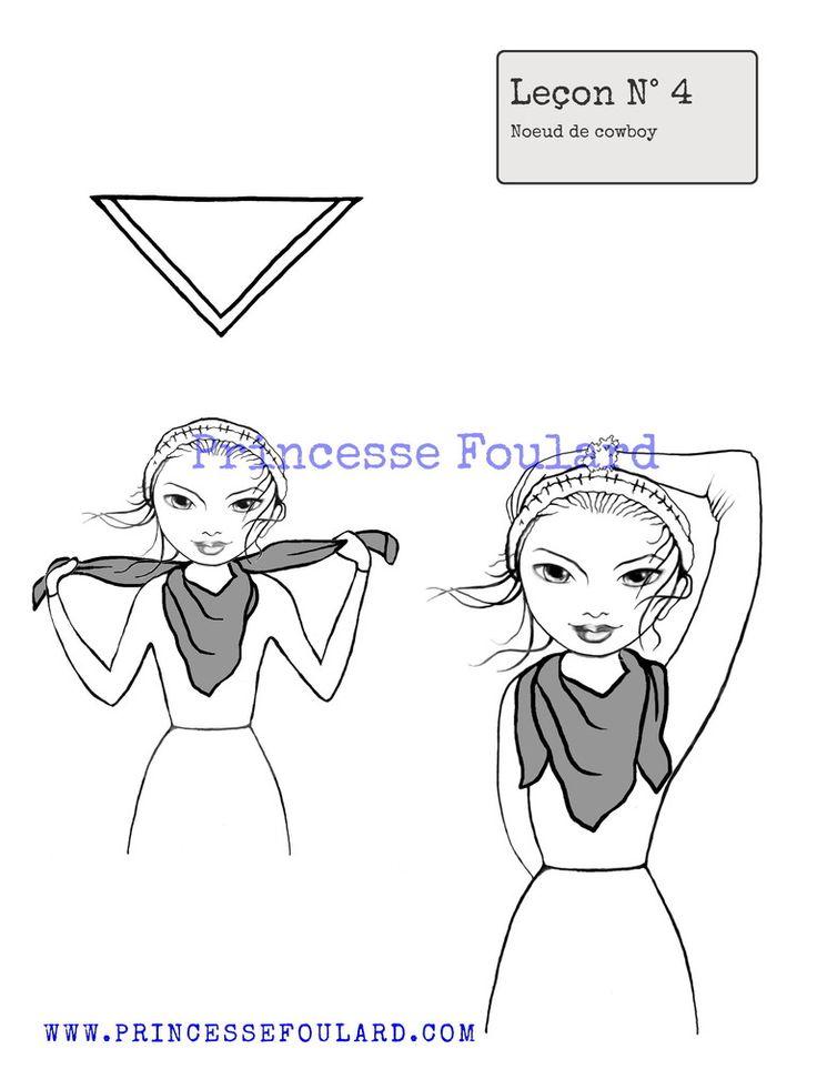 Apprenez comment bien nouer un foulard carré homme et femme et comment réaliser de jolis noeud avec tous vos foulards de ce format carré en soie