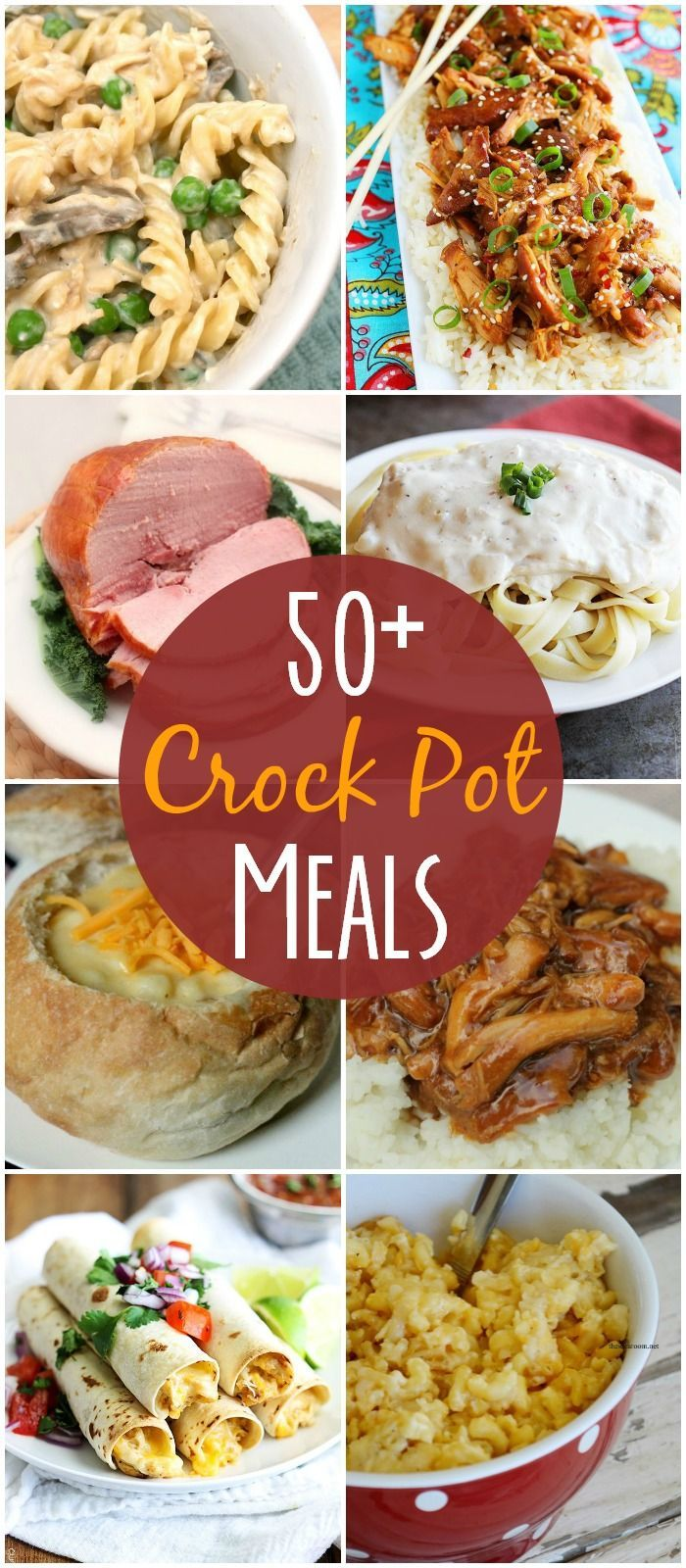 50+ recipes all made in the crock pot! So easy to make and they all look DELICIOUS!! { lilluna.com }