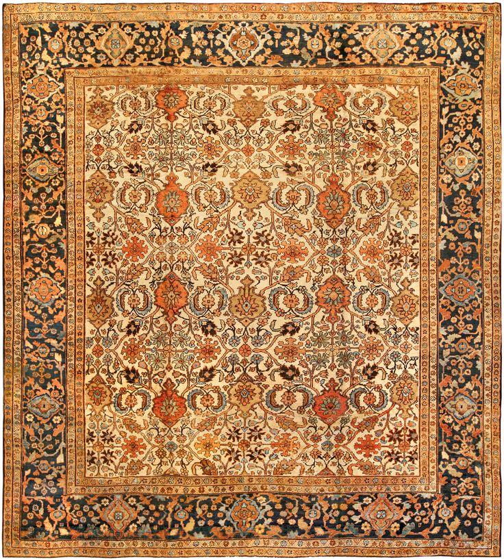 Persian rugs: Persian rug (antique) rug in orange color, oriental rug, oriental pattern for modern, elegant interior decor, rug in living room #rug #persianrug