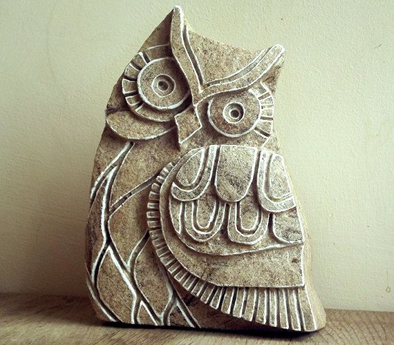 Hey, I found this really awesome Etsy listing at https://www.etsy.com/listing/202352584/owl-decor-carved-stone-sculpture-stone