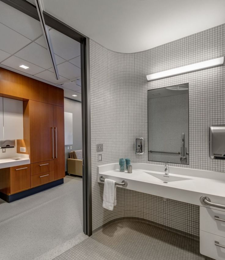 Gallery of Spaulding Hospital   Perkins Will   7   Healthcare design . Hospital Bathroom. Home Design Ideas