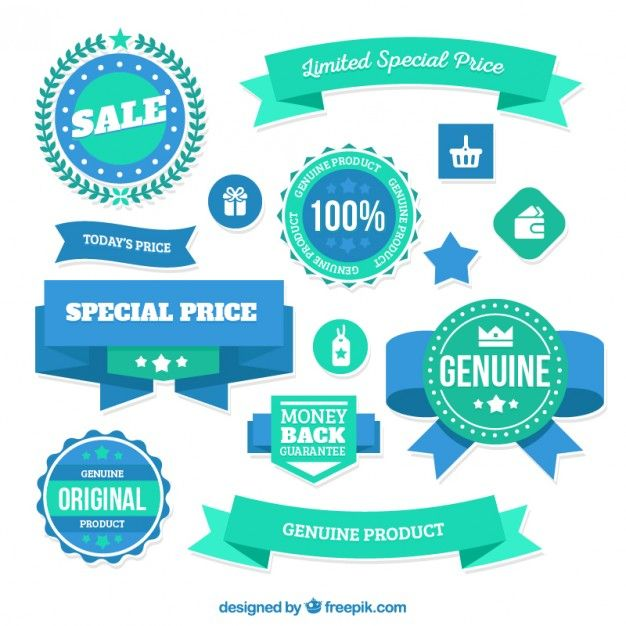 Limited special price badges I  Free Vector