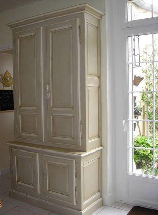 7 best BIBLIOTHEQUES PATINEES - CHENE MASSIF - MEUBLES DE CHARME - meuble salle de bain en chene massif