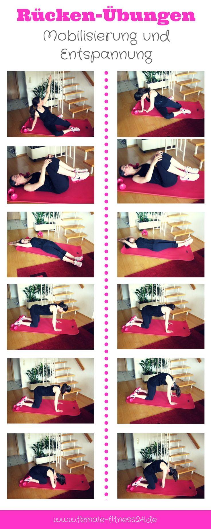 Übungen | Workout für Rücken bzw. für die Wirbelsäule - eine wahre Wohltat zur Entspannung und Mobilisierung. Als einzelnes Workout oder als Bestandteil des Dehnens nach einem Workout (z.B. Bauch, Beine, Po; Aerobic, Tanz-Fitness etc.). Aber auch direkt nach der Arbeit oder vor dem Schlafen gehen können die Übungen gemacht werden.