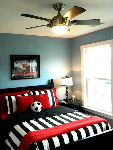 Superior Soccer Bedroom Ideas Part - 11: Spaces Soccer Themed Room Design, Pictures, Remodel, Decor And Ideas - Page  5 With Gold Go Sidekicks