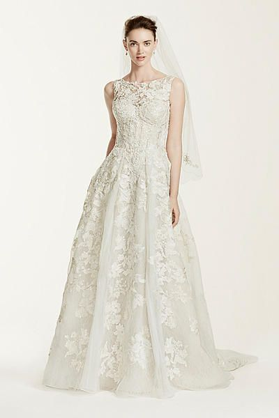 Tank style wedding dress lace