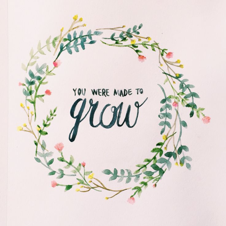 15 Love Quotes Designs Pictures And Images Ideas: Growth // Watercolor Floral Quote
