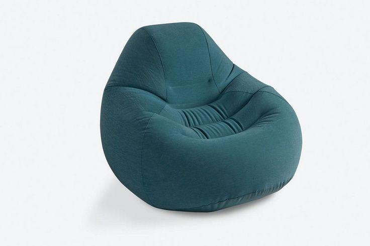 Intex Deluxe Beanless Bag Chair petrol Sessel aufblasbar Matratze Aufblasmöbel