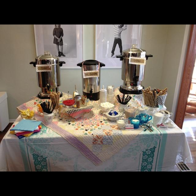 Wedding Shower. Hot drink bar. | Craft Ideas | Bar drinks ...