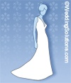 Helpful guide to wedding dress train lengths