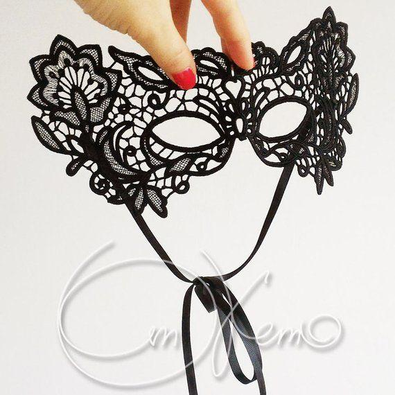 Machine Embroidery Design Venesian Mask Free Standing Lace Mask