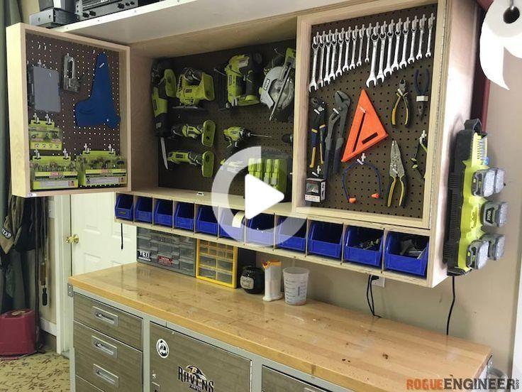 Outil De Stockage Armoire Murale Construire Une Armoire Rangement Outils Rangement Atelier