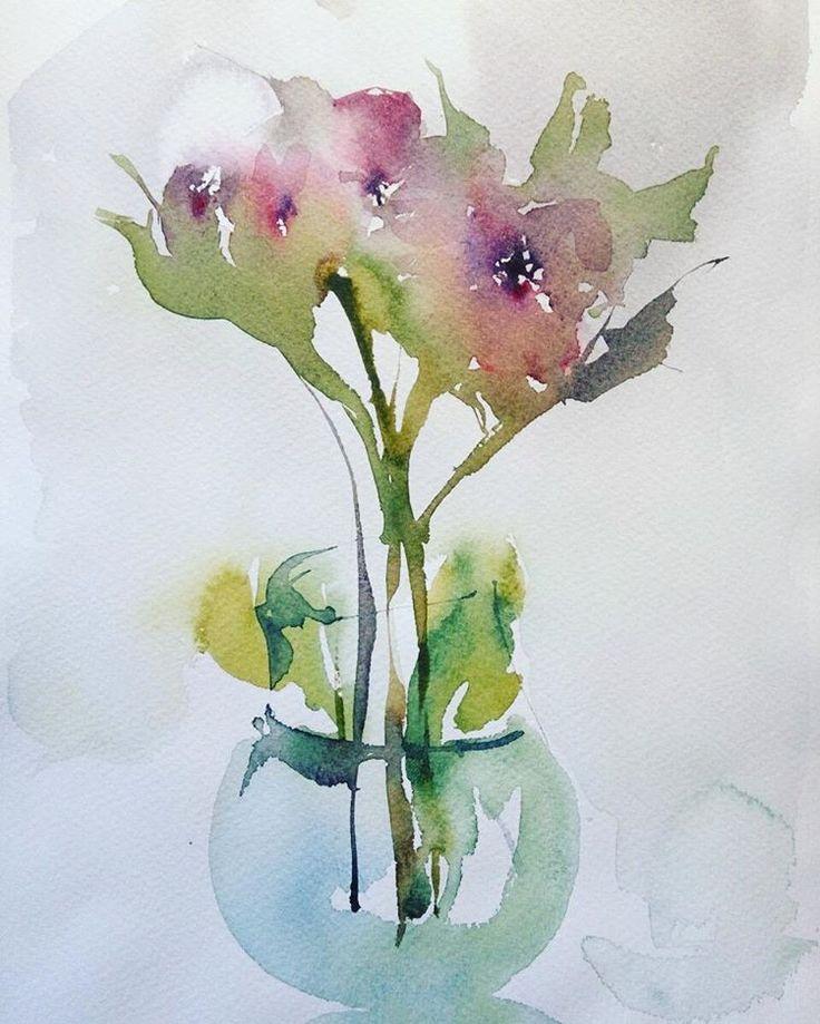 #watercolor #акварель #цветы
