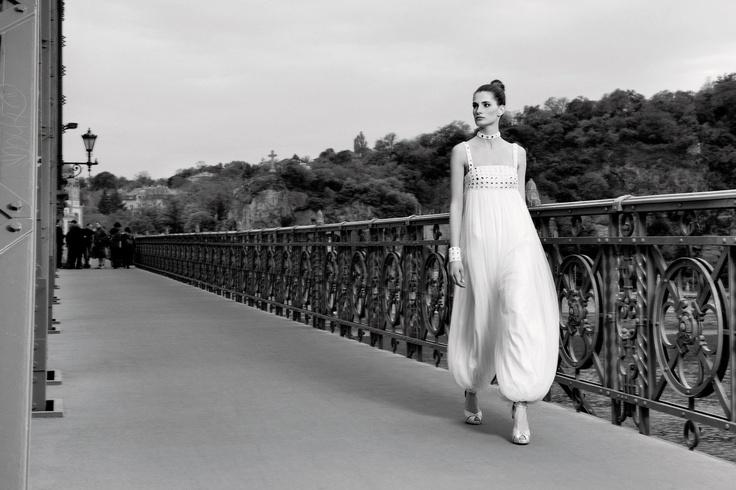 Combinaison pantalon de mariée en mousseline de soie studio-bollywood