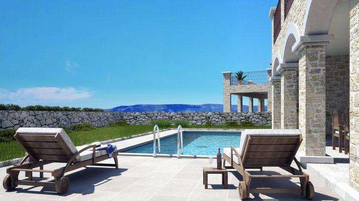 Haus mit Pool und Meerblick in Kroatien   Immobilien Insel Krk