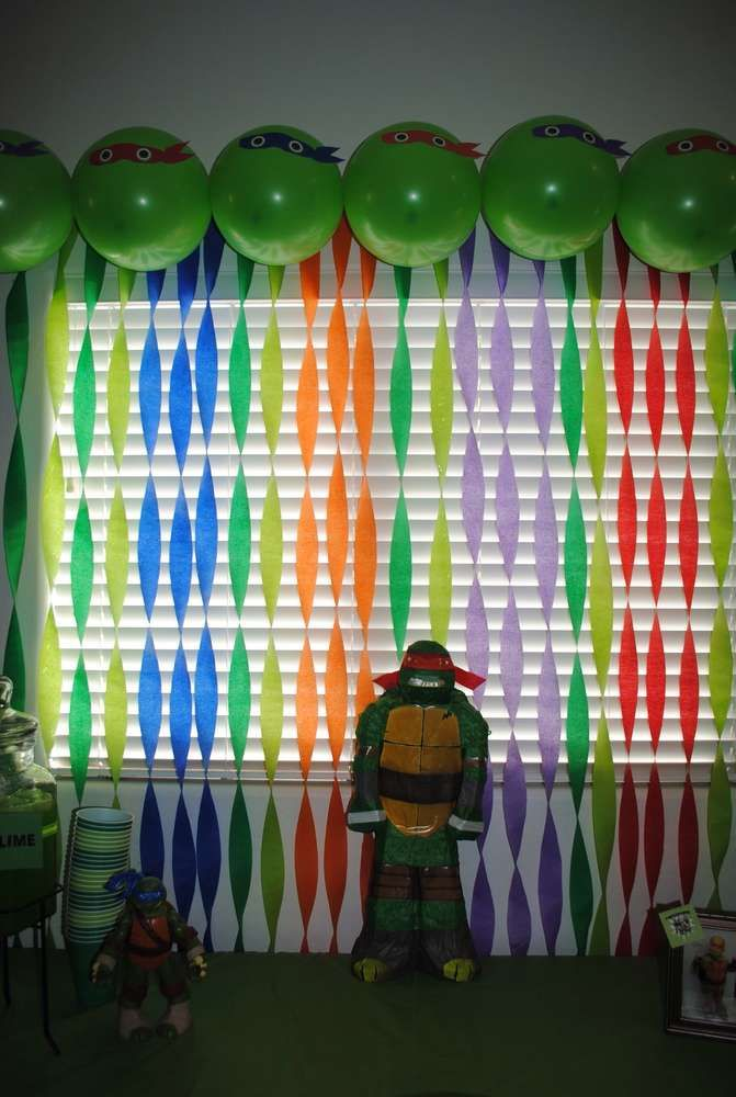 Ninja Turtle Party - Lots of ideas, decor and food (including watermelon turtle head)
