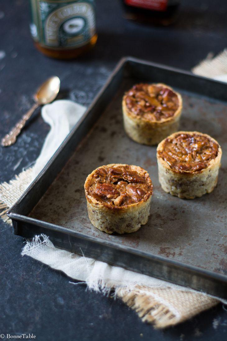 Mini tartes fondantes aux noix de pécan et golden syrup