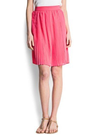 Mango Women's Pleated Skirt, Geranium, 2 MANGO. $59.99