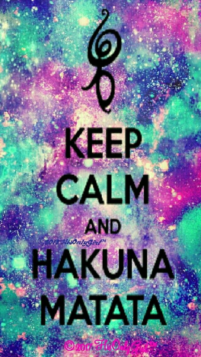 Hakuna matata galaxy iPhone/Android wallpaper I created for three app CocoPPa! | Frases sientas ...
