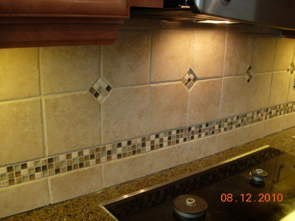 Possible layout for backsplash my field tiles look nearly for 4x4 travertine tile backsplash
