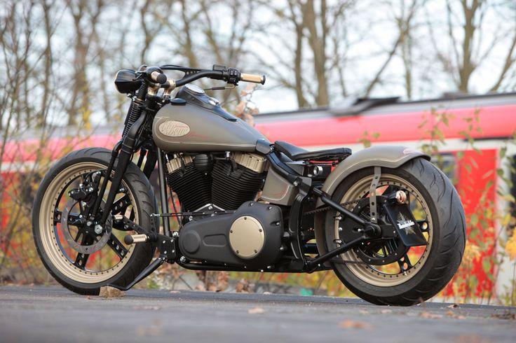 Customized Harley-Davidson Softail Cross Bones by Thunderbike