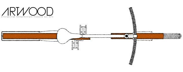 Schutzblech aus Holz von Art-WooD - Breite 40mm