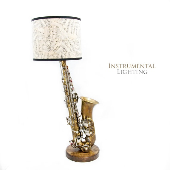 Alto Saxophone Lamp U0026 Sheet Music Lamp Shade