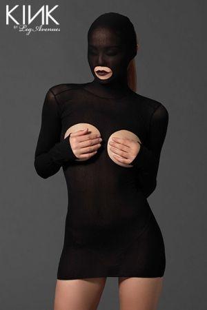 Mini Robe Cagoule Ouverte sur les Seins, les Fesses et la Bouche