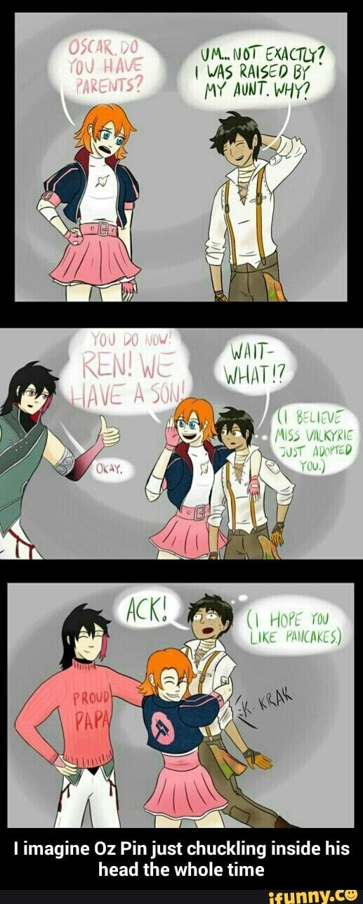 Hahah :) I think Nora and Ren would do something like that