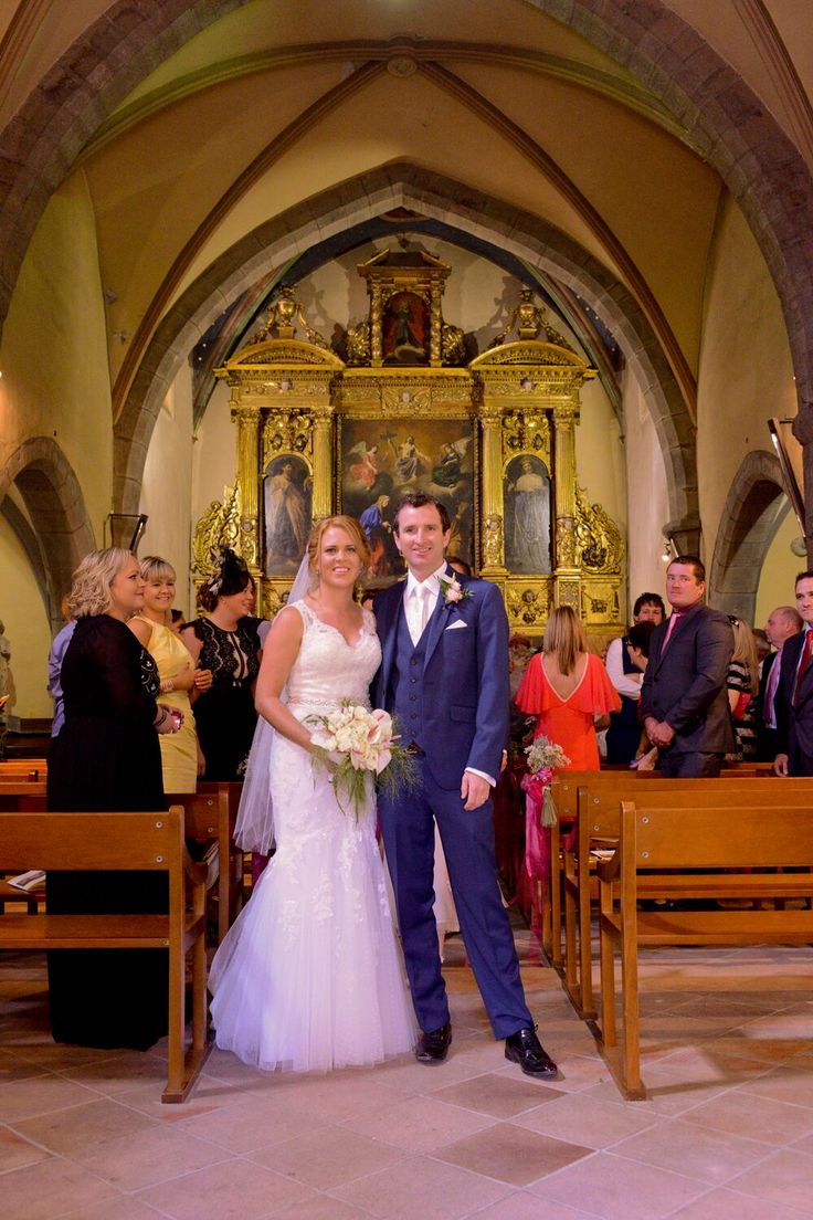 Just married at St Luc's, Ginestas in the south of France.