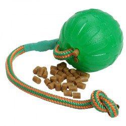 #Balle à friandises pour #chien moyen et grand faite en caoutchouc résistant avec corde pratique. Diamètre 9 cm -> 19,00 €  @fordogtrainersf Pensez à mentionner «J'aime» si ce produit vous plaît.