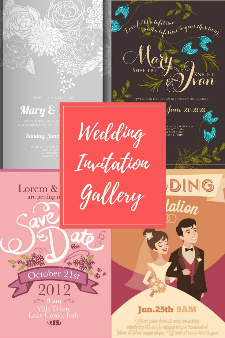 The 251 best Wedding invitation Templates, cutting files (svg, dxf ...