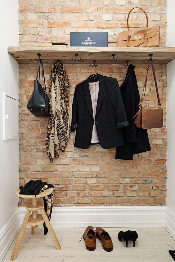 16 Fascinating Ideas To Style Your Entryway With Brick Walls                                                                                                                                                                                 More