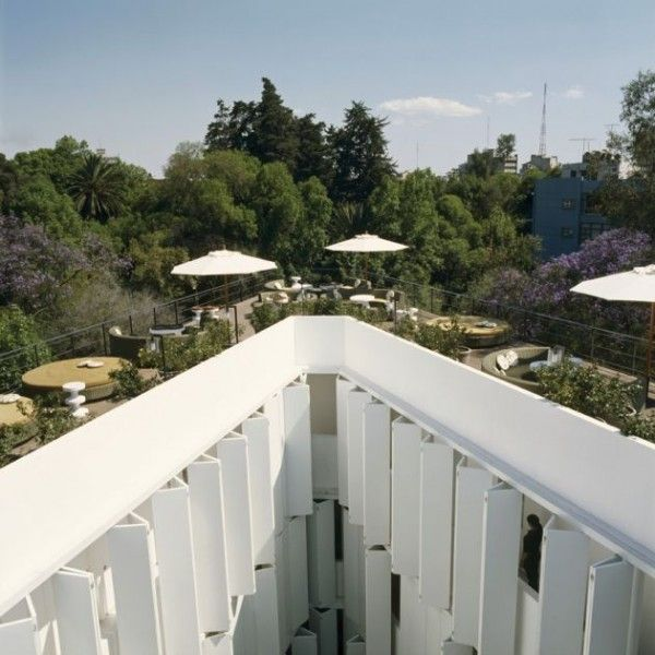 India Mahdavi's Condesa DF Boutique Hotel in Mexico City - http://www.architizer.com/en_us/blog/dyn/82122/10-brilliant-examples-of-modern-white-architecture/#.UWMUqaJhVrN
