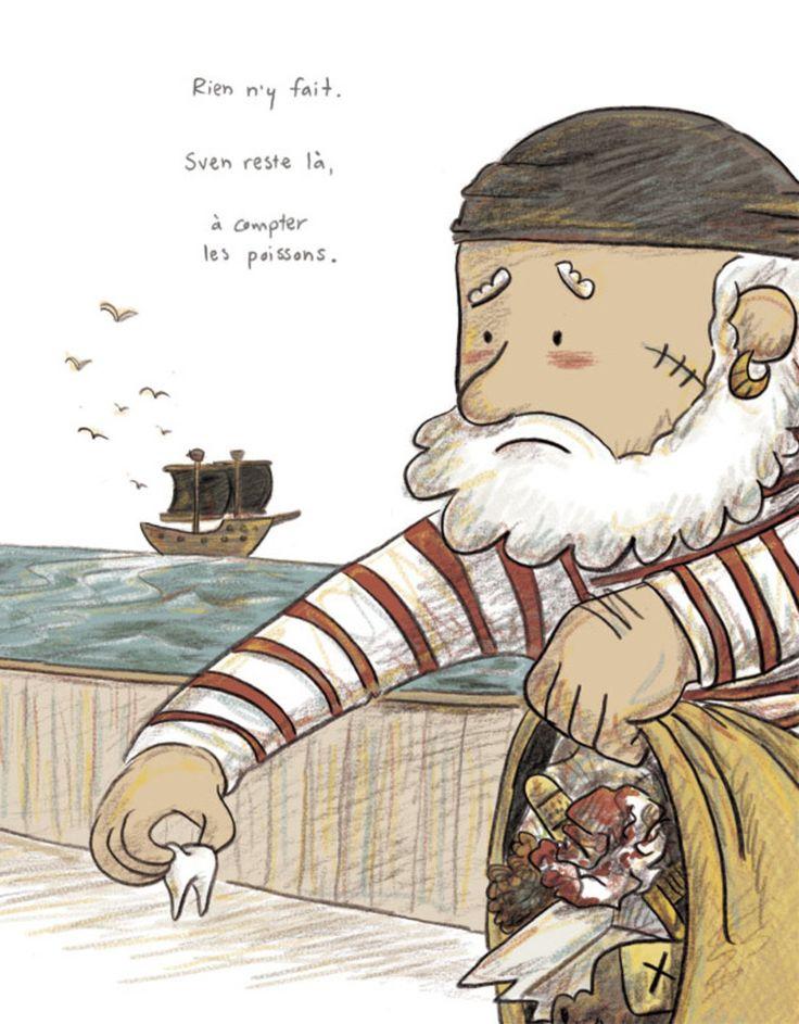 Sven le terrible - Pas de vacances pour les pirates extrait, album jeunesse, 400 coups, illustration, orbie, bateau cover, kids book, boat