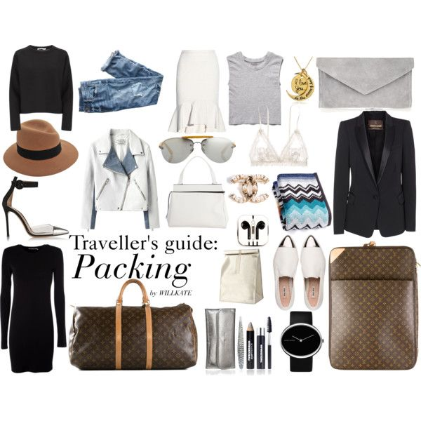 """PACKING : LONG GETAWAY"" by willkatelady on Polyvore : Travel Essential Flatlay"