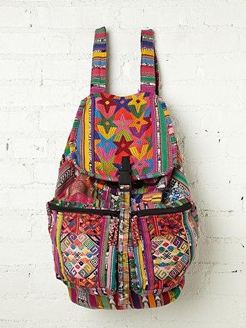 FREE PEOPLE Santiago Patchwork Backpack