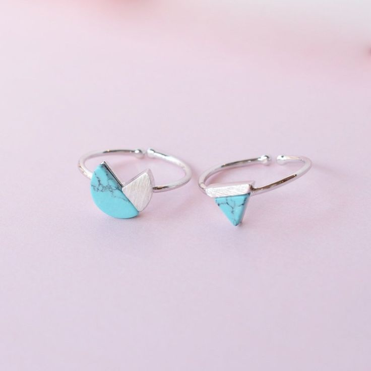 Delta Silver/Turquoise Ring - Majolie
