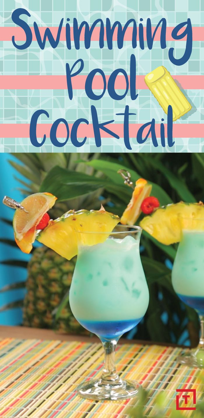 When your drink is the same color as the sky and ocean, you know it's perfect for summer. Dive right into this tropical swimming pool cocktail, made with vodka, rum, pineapple juice, and Blue Curaçao, courtesy of Green Living AZ.