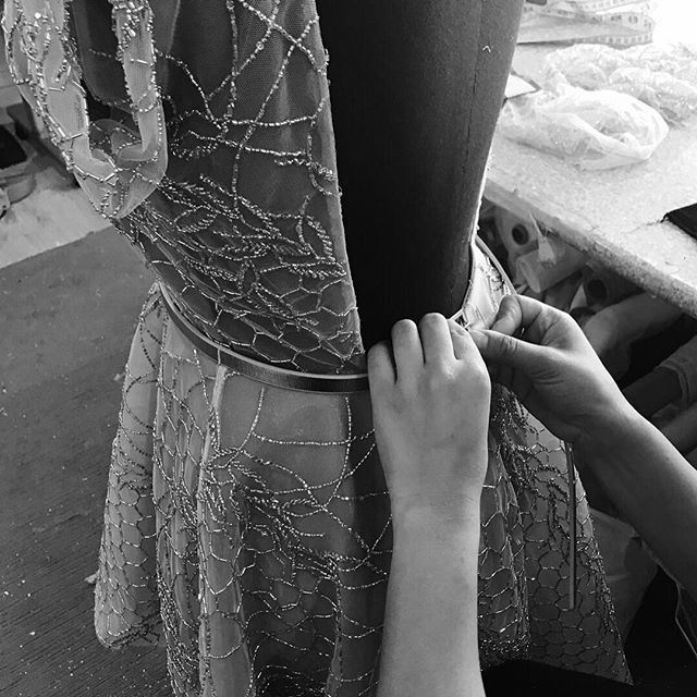 • BESPOKE • Here at One Day we also offer a bespoke design process where we work with you to create a completely original design like this party dress for @annaweatherlake • For questions and quieries please email enquiries@loveoneday.com.au • #onedaybridal #bespokeoneday #bespokegown #oneday #bride  #Regram via @onedaybridal